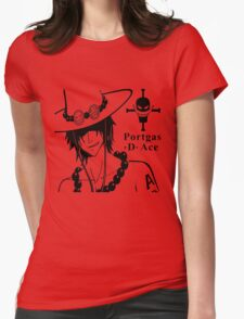 Portgas D Ace Style Womens Fitted T-Shirt