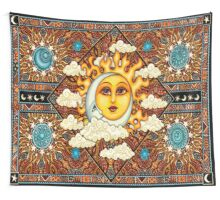 Tribal - Moon & Sun Wall Tapestry