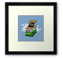 Game Over Arcade Life Framed Print