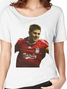 steven gerrard goal Women's Relaxed Fit T-Shirt