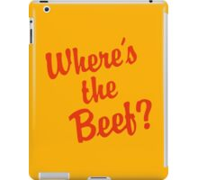 Where is the Beef? iPad Case/Skin