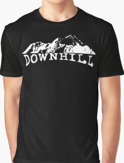 Downhill MTB Bike Bicycle Mountain Bike Cycling Rider Track Graphic T-Shirt