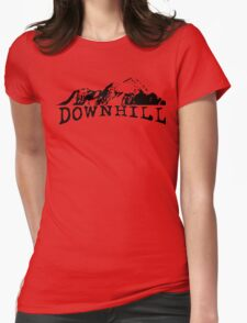 Downhill MTB Bike Bicycle Mountain Bike Cycling Rider Track Womens Fitted T-Shirt