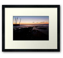 Sunset at basanija Framed Print