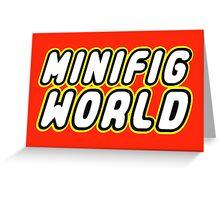MINIFIG WORLD Greeting Card