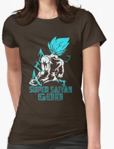 Super SaiYan God Womens Fitted T-Shirt