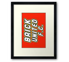 BRICK UNITED FC, Customize My Minifig Framed Print