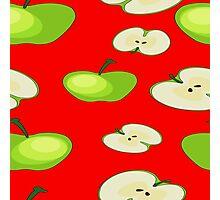Apple fruit pattern Photographic Print