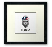 RIP Harambe Framed Print