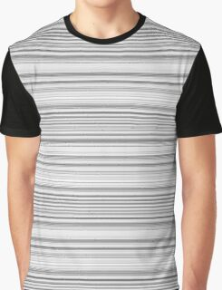 Black, White and Gray Stripes Graphic T-Shirt