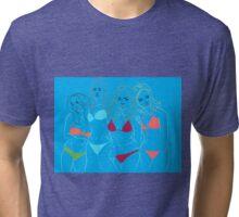 Blue Girls Tri-blend T-Shirt