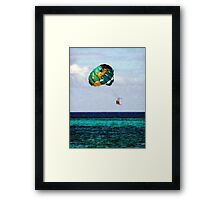 Two Women Parasailing in the Bahamas Framed Print