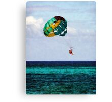 Two Women Parasailing in the Bahamas Canvas Print