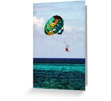 Two Women Parasailing in the Bahamas Greeting Card