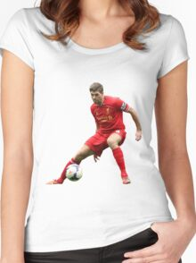 steven gerrard Women's Fitted Scoop T-Shirt