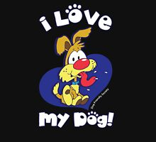 I LOVE MY DOG! Womens Fitted T-Shirt