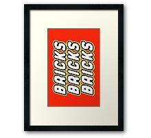 BRICKS BRICKS BRICKS, by Customize My Minifig Framed Print