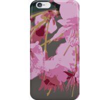 Beautiful Pink Sakura Cherry Blossoms Illustration 2 iPhone Case/Skin