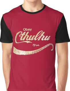 Cthulhu Lovecraft Obey Graphic T-Shirt