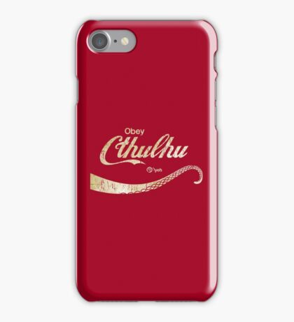 Cthulhu Lovecraft Obey iPhone Case/Skin