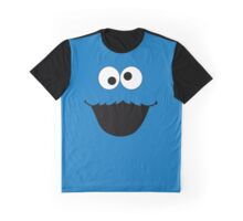 Cookie Monster Face Graphic T-Shirt