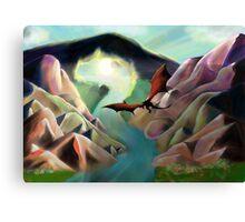 Dragon volant - Landscape Canvas Print