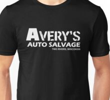Avery Auto Salvage white Unisex T-Shirt