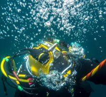 Diver on Lazy Shot Sticker