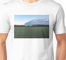 Delicate Young Crops - Coordinated Clouds and Furrows Unisex T-Shirt