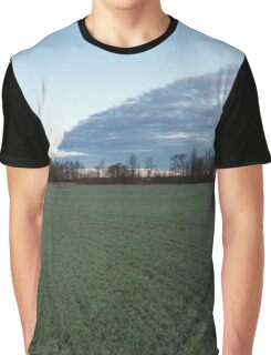 Delicate Young Crops - Coordinated Clouds and Furrows Graphic T-Shirt