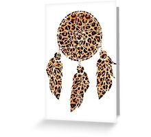 leopard dream catcher for all the cat ladies. Greeting Card