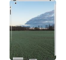 Delicate Young Crops - Coordinated Clouds and Furrows iPad Case/Skin