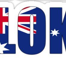 The Bloke Show Flags Sticker