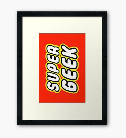 SUPER GEEK Framed Print