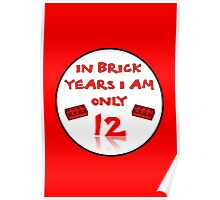 IN BRICK YEARS I AM ONLY 12 Poster