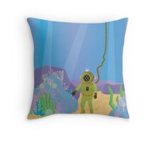 Hidden Treasure of the Deep Throw Pillow