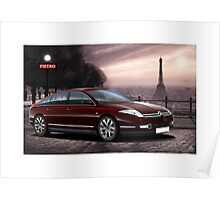 Poster artwork - Citroen C6 Exclusive - Paris Poster
