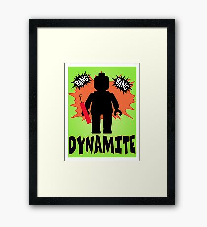 Dynamite Minifigure, Customize My Minifig Framed Print