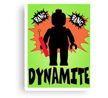 Dynamite Minifigure, Customize My Minifig Canvas Print