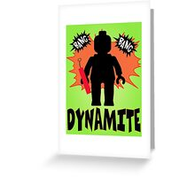 Dynamite Minifigure, Customize My Minifig Greeting Card