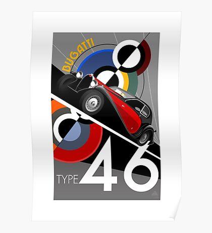 Poster artwork - Bugatti Type 46 Poster