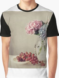 Still life with grapes and hydrangea Graphic T-Shirt