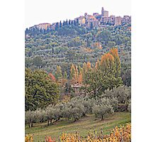 Panicale in Autumn Photographic Print