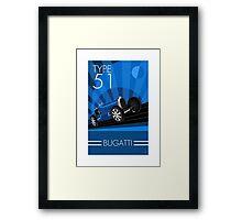 Poster artwork - Bugatti Type 51 Framed Print