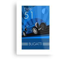 Poster artwork - Bugatti Type 51 Metal Print
