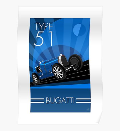 Poster artwork - Bugatti Type 51 Poster