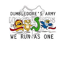 Dumbledore's Army: We Run as One Photographic Print