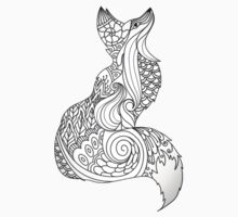 Royal fox in Black and White One Piece - Short Sleeve
