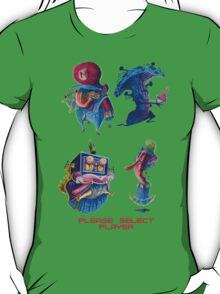 "Super Mario Bros 2 Collection ""Please Select Player"" T-Shirt"