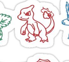 charizard blastoiser venasaur Sticker